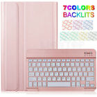 """For Samsung Galaxy Tab A S6 S5e 8.0"""" 10.1"""" 10.5"""" Backlit Keyboard + Case Cover"""