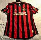 ATLANTA UNITED FC MLS AUTHENTIC 2019 HOME COLOR STRIPED SOCCER JERSEY ADIDAS NWT image