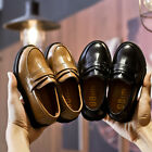 Boy Children British New Faux Leather Shoes Non-Slip Comfort Loafer Kids Shoes