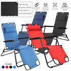Outdoor Folding Chair Sun Lounger Recliner Beach Chair Garden Patio Camping