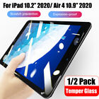 1-2Pack For Apple iPad Air 4th 10.9'' 10.2''2020 Tempered Glass Screen Protector