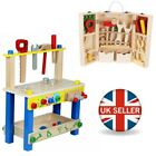 'Kids Wooden Workbench Construction Work Bench Tool Set Play Toy Best Xmas Gift