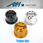 CNC 1pc Triple Nuts Fit Ducati 1098 1198 R S 916 996 998 MTS
