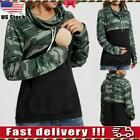 Pregnant Women Camo Breastfeeding Hoodie Tops Nursing Patchwork Sweatershirt USA