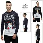 Seasons Greetings Novelty Mens Funny Snowman Jumper Crew Neck Xmas Sweater