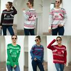 Winter Tops Jumper Womens Knitted Pullover Warm Christmas Loose Knit Shirt