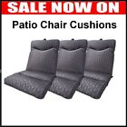 Highback Cushion Outdoor Patio Seat Grey Lounge Patio Chair Uv Resistant Pool