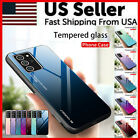 For Samsung Galaxy S20 Plus Ultra Slim Gradient Tempered Glass Hybrid Case Cover