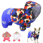 Small Dog Winter Coat with Harness Hole Yorkie Clothes Jumpsuit Hoodie Jacket