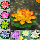 18cm Artificial Lotus Floating Water Lily Flowers Plants Home Decors Pony Ga