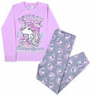 Girls Unicorn Pyjama Set Kids New Long Sleeve Full Length PJs Age 2 - 13 Years