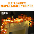 LED Lighted Fall Autumn Pumpkin Maple Leave Garland Thanksgiving Halloween Decor