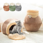 Winter Warm Dog Puppy Pet Cat Igloo/Cave Bed House Sofa Kennel Nest Bed Mat S M