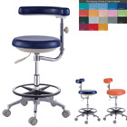PU Leather Dental Doctor Dentist Assistant Nurse Stool Chair Seat QY500(N)
