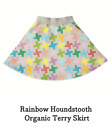 Kid Made Modern Rainbow Houndstooth skirt