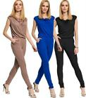 Ladies Elegant Overall Jumpsuit With Light Cowl Neck Size S M L XL