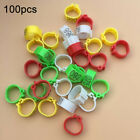 100Pcs Pigeons Parrots Leg Rings Plastic Birds Leg Foot Clip Rings Band