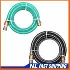 Suction Hose with Brass Connectors Water Pipe Green/Black Multi Sizes J_Vtin