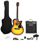 COLUMBUS SATIN ELECTRO ACOUSTIC GUITAR and AMPLIFIER PACKAGE (40