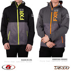 New 2020 FXR Men's Force Dual Laminate Jacket Black/HiVis Charcoal/Orange Snow