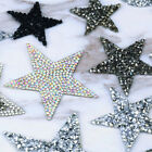 1pc Crystal Rhinestone Star Iron On/ Sew On Embroidery Patches Fabric Diy Craft