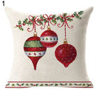 WO_ FT- ALS_ Double-sided Christmas Linen Pillow Case Cushion Cover Home Sofa Be