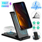 20W Wireless Charging Station Charger Dock for Phone Air Pod Samsung Galaxy Buds