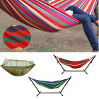 Double Hammock with Stand Outdoor Garden Patio Swing Chair Steel Frame NEW