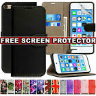 'Leather Flip Wallet Card Holder Case Cover For Apple Ipod Touch 7th 6th 5th Gen