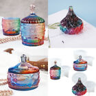 Silicone Trinket Box Epoxy Resin Molds with Lid Jewelry Storage Candle Holder