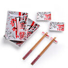 Panbado Porcelain Sushi Plates Set Japanese Style for 2 Person with Chopsticks