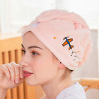 2PCS Hair Wrap Cap Creative Embroidery Turban Towel Soft Quick Drying Shower Hat