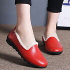 Pregnant Women's Anti Slip Low Top Driving Shoes Winter Warm Leather Flat Shoes