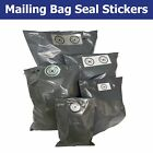 Grey / White Postal Bag / Packaging Security Seals - Choose Your Sticker Size