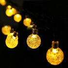 6.5M 30LED Solar-powered Bubble String Lights Night Light Garden Home Party Bar