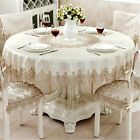 Round Tablecloth For Table Decor Lace  Dining Table Cabinet Cover Chair Set