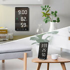6In LED Mirror Alarm Clock Touch Digital Clock Time Temperature Humidity Display