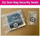 Resealable / Zip Lock Bag / Packaging Security Seals - Choose Your Sticker Size