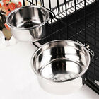 Stainless Steel Hang on Bowl For Pet Dog Cat Crate Cage Food Water Feed Bowl UK