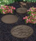 Stepping Stone Garden Pathway Recycled Rubber Reversible Leave Earth Ornament