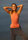 NEW Free People Movement Racing Heart Tank Yoga Top in Peach XS/S-M/L 48