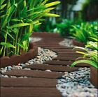 Primeur Stepping Stone Garden Pathway Railroad Tie Earth Recycled Rubber Flat