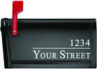 Customizable Personalized Address Name Mailbox House Number Vinyl Decal Sticker