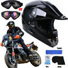 DOT Helmet Youth Kids Motorcycle Full Face Offroad Dirt Bike ATV MX BMX Goggles
