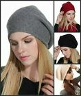 Prettystern Cashmere Beanie Hat plain Ladies Soft Warm Soft