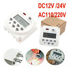 12/24/110/220V Digital LCD Time Switch Wall Weekly Programmable Electronic Timer photo