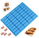 Mity rain 40 Cavities Rectangle Silicone Mold - Caramel Candy Trays Molds for