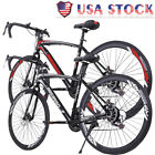 Outdoor 21 Speed Road Bike Full Suspension Disc Brakes 700c Commuters Bicycle