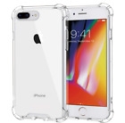 For iPhone 7 8 Plus Shockproof Bumper Phone Cover Case Anti Scratch Clear Back