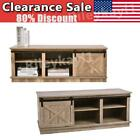 """46"""" TV Stand Sliding Barn Door Console Console Cabinet Entertainment Center US"""